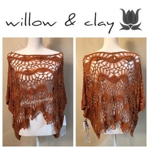 Willow and Clay Crochet Top